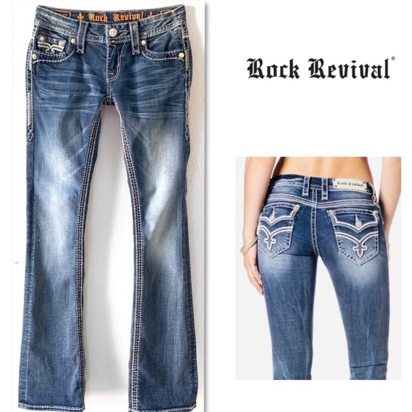 Rock Revival Denim - ROCK REVIVAL ASHLEY BOOT JEANS 25 X 34